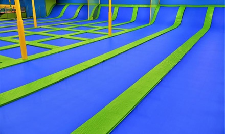 One-Hour Indoor Trampoline Session for Two at Jumping World Bryan (Up to 54% Off)