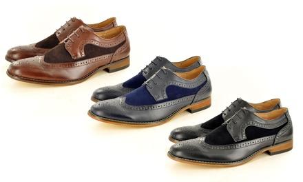 Men's Two-Tone Brogue Shoes