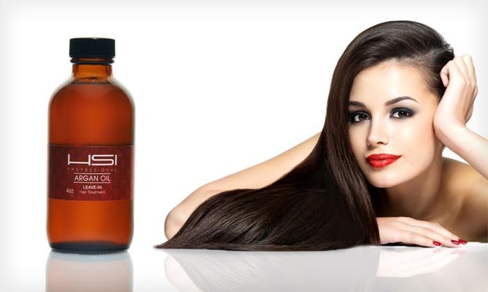 Argan-Oil Hair Treatment: $24.99 for a 4 Oz. HSI Professional Argan-Oil Leave-In Hair Treatment ($49.99 List Price). Free Shipping.