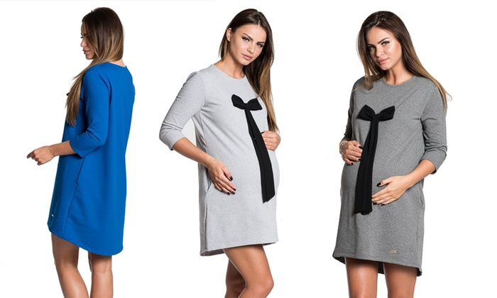 Groupon Goods Global GmbH: Maternity Dress with Decorative Bow