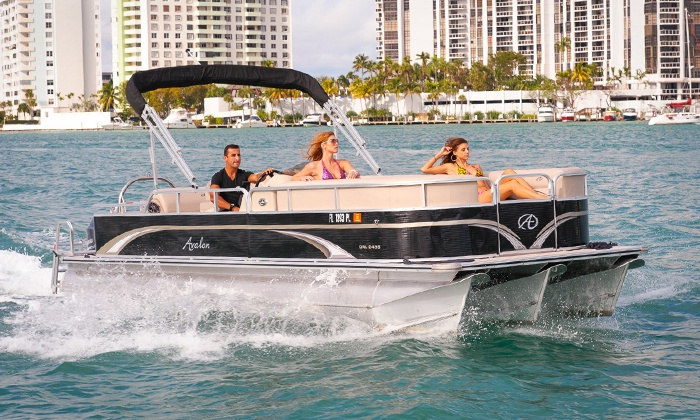 Miami Beach Paddleboard - Miami Beach Marina: Two- or Four-Hour Party Boat Rental for Up to 10 from Miami Beach Paddleboard (Up to  $599Off)