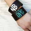 Up to 55% Off Monogrammed Leather Cuffs from KraftyChix