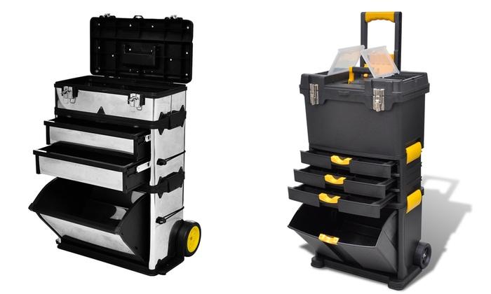 Geliefde 3-delige trolley-gereedschapskist   Groupon Goods BO39