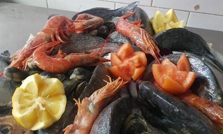 Menu di pesce con vino a 39,90€euro