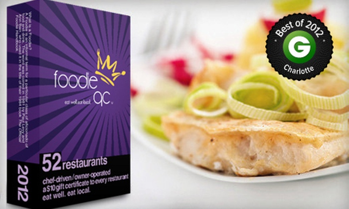 Foodie Charlotte: $20 for Restaurant Gift-Card Pack from Foodie Charlotte ($43 Value)