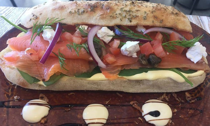 Hangar Cafe QV - Melbourne: Focaccia and Can of Soft Drink: One ($6.90) or Two of Each ($13.50) at Hangar Cafe QV (Up to $23.80 Value)