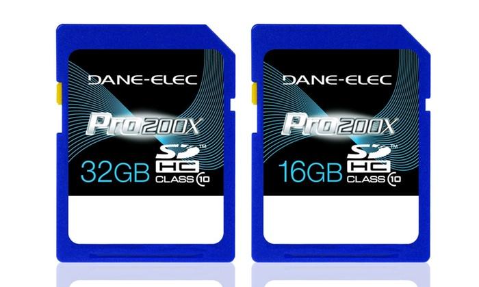 Dane-Elec SDHC Class 10 Memory Cards: 16 or 32GB Dane-Elec SDHC Class 10 Memory Card from $10.99–$16.99. Free Returns.