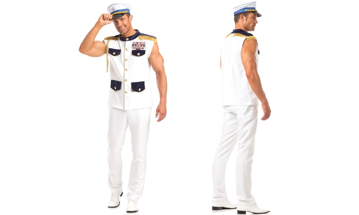 ef93e10cb1b Men's Scintillating Sea Captain Costume
