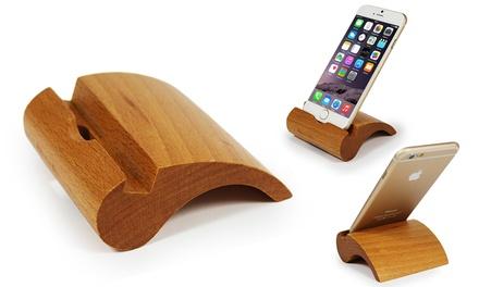 Smartphone-Halterung aus Bambus