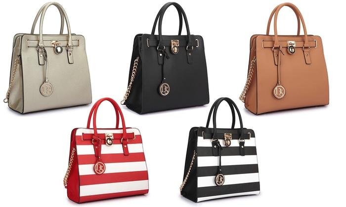 Dasein Large Satchel Handbag | Groupon