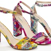Lady Godiva Women's Ankle Strap Printed Sandals