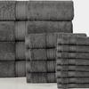 Soft 100% Cotton Solid Towel Set (16-Piece)