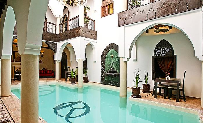 Marrakech: 1 à 7 nuit(s) avec petits déjeuners, accueil VIP, 1 dîner marocain et modelage en option au Riad Opale pour 2