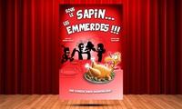"""2 places pour """"Sous le sapin...les emmerdes !"""" à 19 € au théâtre la Comédie Triomphe"""