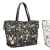 Dasein Collection Floral Reversible Tote Handbag