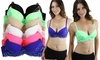 Two-Tone Demi-Cup Lace Bras (6-Pack): Two-Tone Demi-Cup Lace Bras (6-Pack)