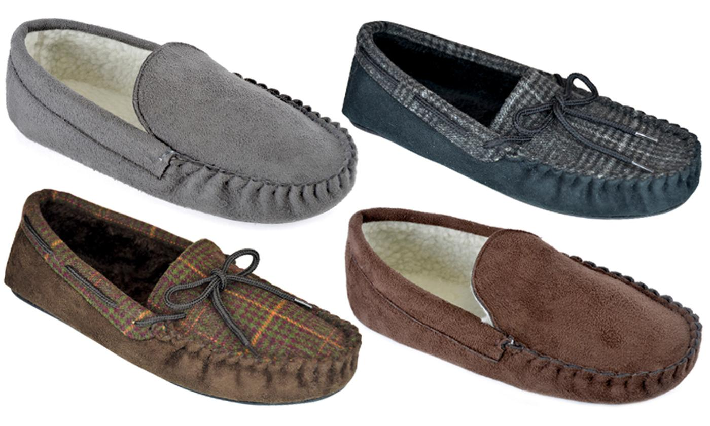 Men's Warm Moccasin Slippers