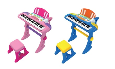 $49 for a Kids' Electronic Keyboard in Blue or Pink (Don't Pay $99)