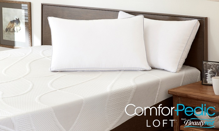 comforpedic loft from beautyrest foam core and fiber pillow comforpedic loft from beautyrest foam core