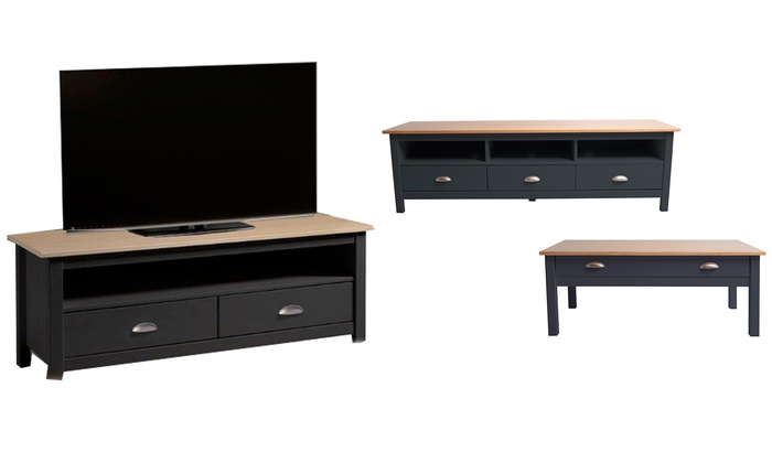 table basse meuble tv botello groupon shopping. Black Bedroom Furniture Sets. Home Design Ideas