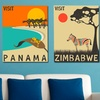 Jazzberry Blue Exotic Travel Posters