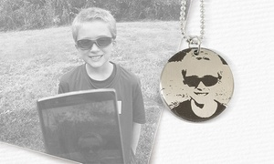 Stamp The Moment: One, Two, or Three Custom Portrait Necklaces from Stamp the Moment (Up to 71% Off)