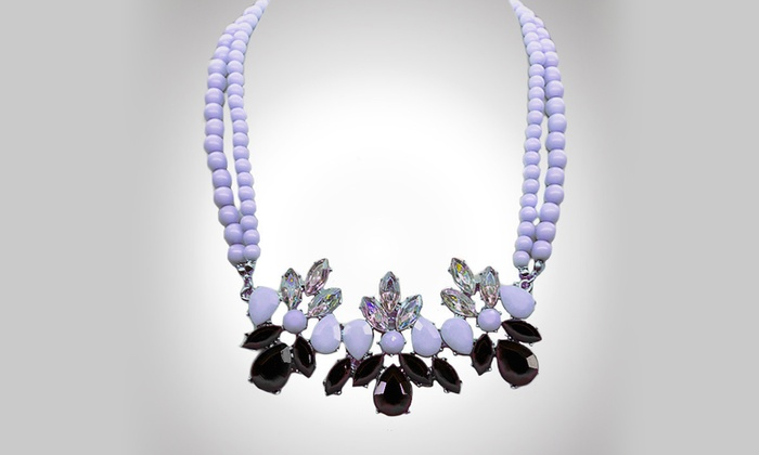 Double Row Statement Necklace Groupon Goods