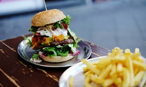 The Crown at Lichfield: 'Monster' Burger With a Choice of Side For Two or Four at The Crown at Lichfield (60% Off)