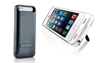 Naztech Apple-Certified 2,400mAh Power Case with Built-in Kickstand for iPhone 5/5s