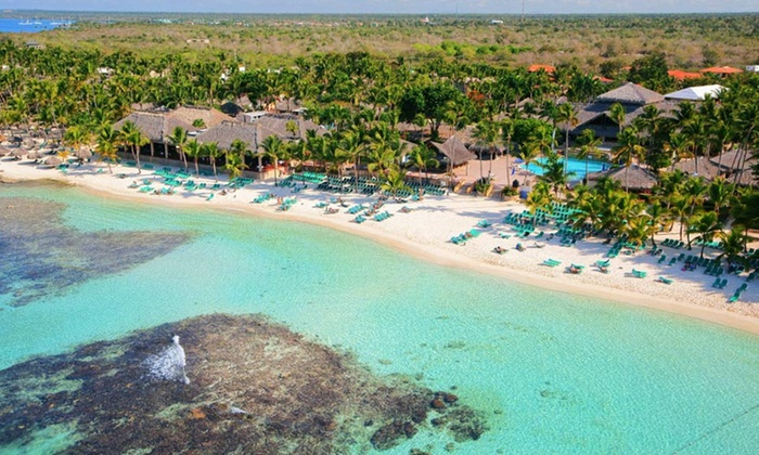 Viva Wyndham Dominicus Beach Stay with Airfare from Vacation Express - Viva Wyndham Dominicus Palace: ✈ All-Inclusive Viva Wyndham Dominicus Beach Stay w/Air. Price per Person Based on Double Occupancy. Incl. Taxes & Fees.