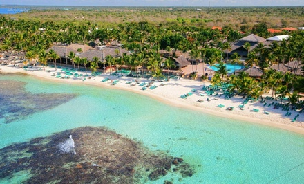groupon daily deal - ✈ All-Inclusive Viva Wyndham Dominicus Beach Stay w/Air. Price per Person Based on Double Occupancy. Incl. Taxes & Fees.