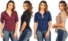 Juniors' Cotton Button-Up Shirt: Juniors' Cotton Button-Up Shirt