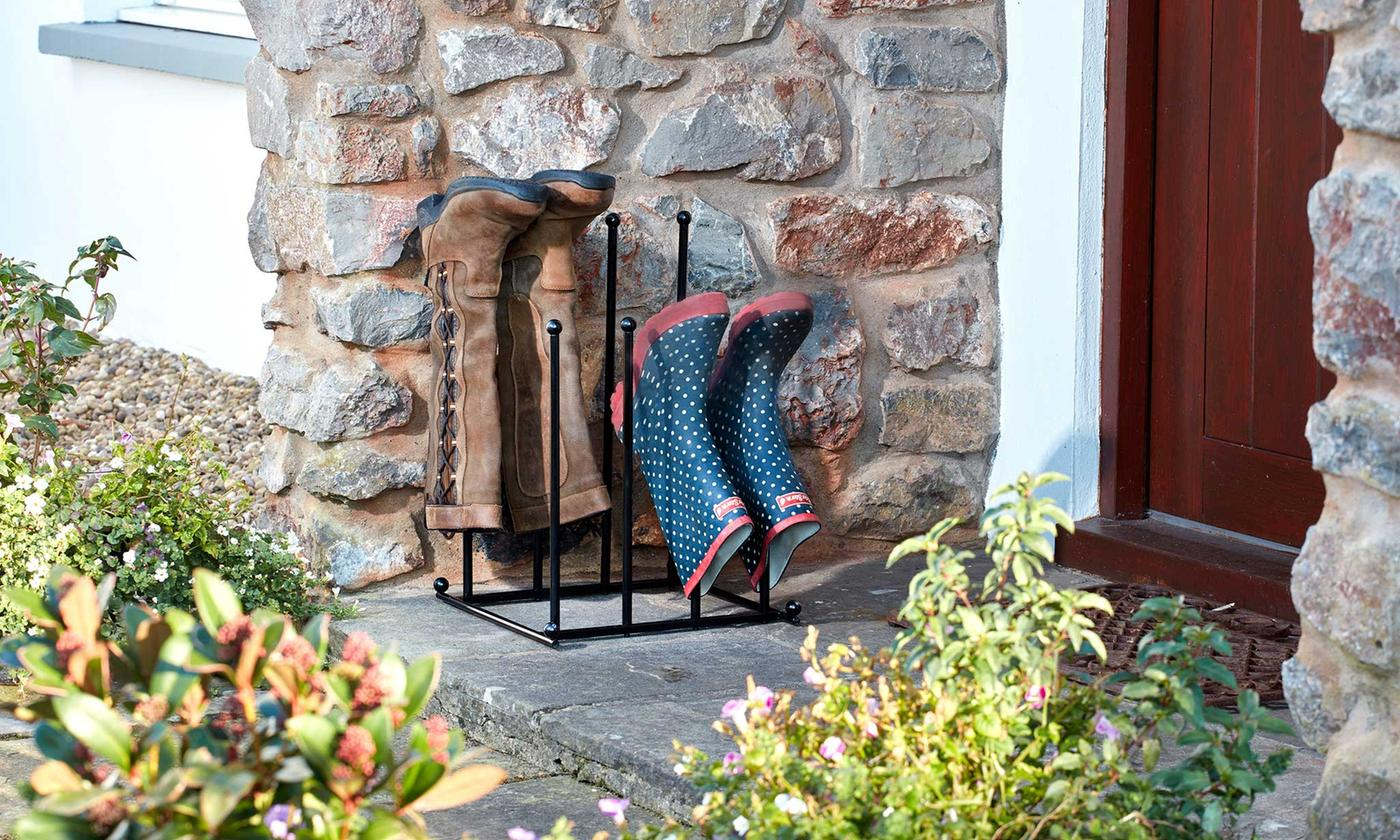 Four-or Six-Pair Two-Tier Steel Boot Stand from £20.99 (58% OFF)