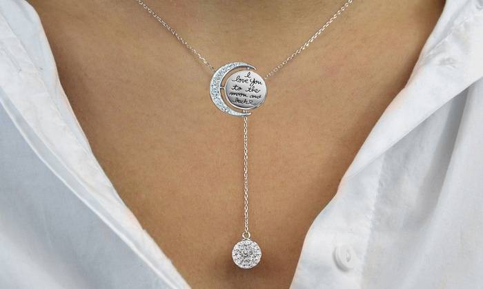 swarovski elements y necklace groupon goods