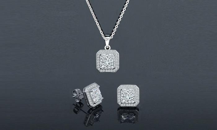 Up To 82 Off On Swarovski Crystals Jewelry Set Groupon Goods
