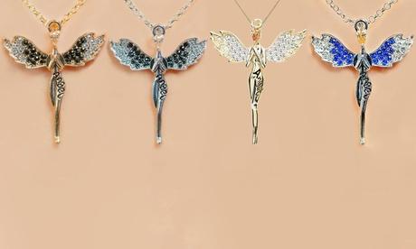 1, 2 o 4 collares de ángel de la guarda con cristales de Swarovski®