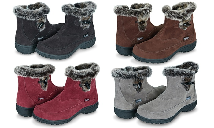 Fur Lined Zipper Ankle Boots with