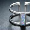 Havana Gray Fire Opal Cuff Ring by Peermont