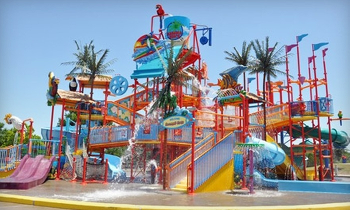 Bahama Beach Waterpark - Redbird: $20 for Two Adult Admissions and Combo Meals at Bahama Beach Waterpark (Up to $43.50 Value)