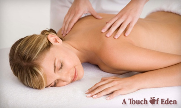A Touch of Eden - Montgomery: $49 for a Swedish Massage and Hydro-Massage-Therapy Package at A Touch of Eden ($120 Value)