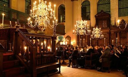 Tickets voor Kaarslichtconcerten in de Portugese Synagoge Amsterdam