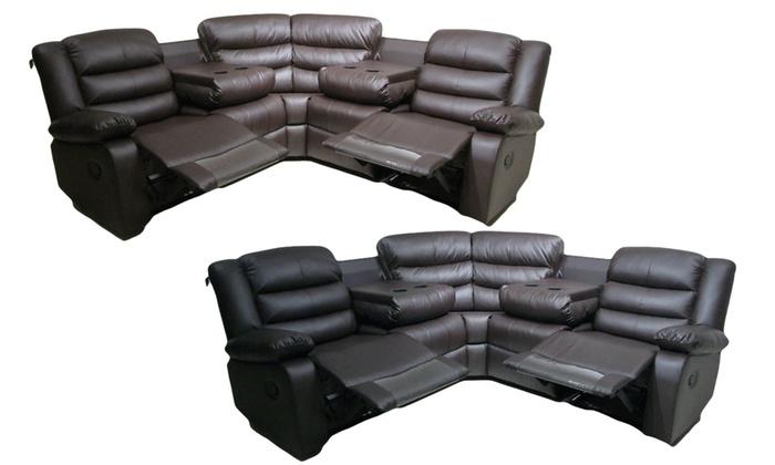 Rosie Corner Recliner Sofa   Groupon Goods