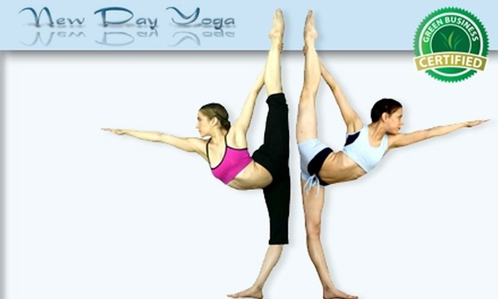 New Day Yoga - Shadow Brook: $30 for 5 Yoga or Core Pilates Classes and 5 Acupressure Massage Sessions at New Day Yoga