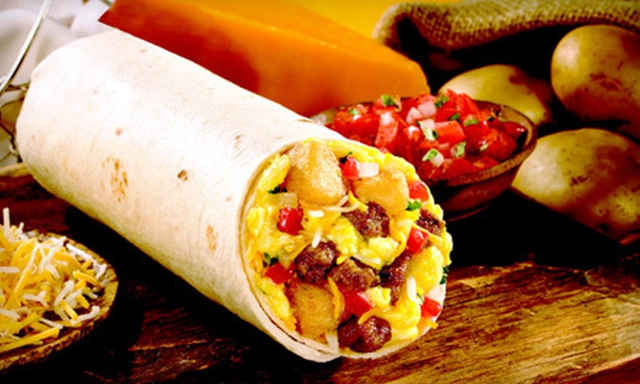Moe's Southwest Grill - Southwest Employment Area: Breakfast Burritos, Southwestern Fare, or Catering at Moe's Southwest Grill (Up to 80% Off). Two Locations Available.