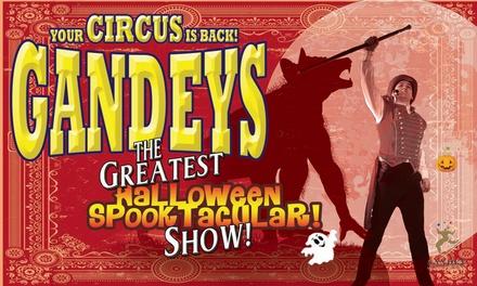 Gandeys Halloween Spooktacular Circus, Side View Ticket, 2631 October, Dudley