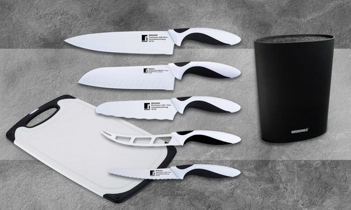 Cuchillos de acero inoxidable groupon goods for Set cuchillos villeroy boch tabla