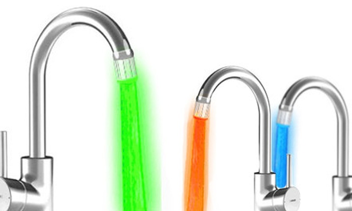 BriteFaucet: One, Two, or Three LED Water-Colouring Faucet Tips with Shipping from BriteFaucet (Up to 63% Off)