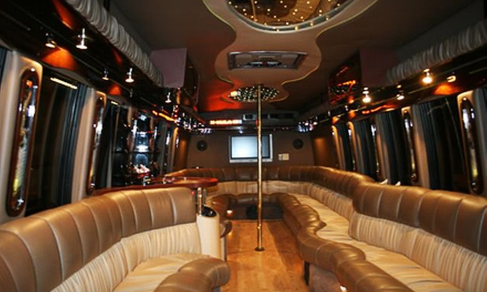 Satisfaction Limousines - Lenox: Two-Hour Limousine or Party-Bus Outing with Optional Holiday Light Show from Satisfaction Limousine (Up to 57% Off)