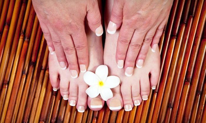 Salon Monte Carlo - Salon Monte Carlo: One or Three Manicures and Pedicures at Salon Monte Carlo (Up to 54% Off)