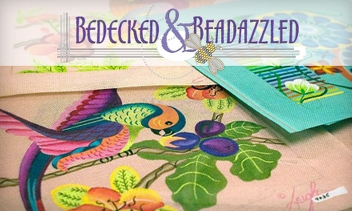 Bedecked and Beadazzled - Lutherville - Timonium: $79 for a Beginner Needlepoint Class at Bedecked and Beadazzled in Lutherville